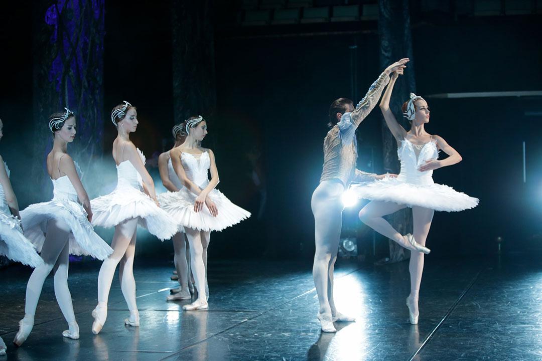 Lina Seveliova dancing Odette & Nariman Bekzhanov dancing Prince Siegfried in Swan Lake